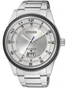CITIZEN orologio uomo acciaio con cassa bianca