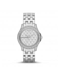 Armani Exchange Orologio Donna Lady Hampton Solo Tempo Silver in acciaio AX5215