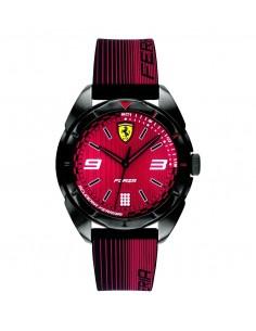 Orologio Ferrari Forza Nero da uomo Solo Tempo in ABS e cinturino in silicone nero e rosso FER0840035
