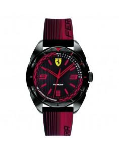 Orologio Ferrari Forza da uomo Solo Tempo in ABS e cinturino in silicone nero e rosso FER0840034