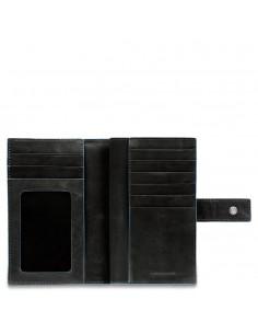 portafoglio donna con porta monete nero piquadro