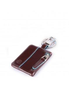 Piquadro Portachiavi con Connequ e tasca - mogano