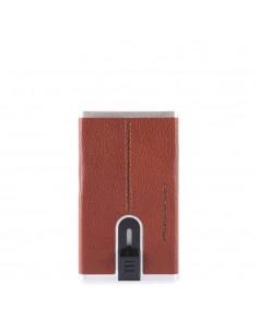 Piquadro Porta Carte di Credito con sliding system Cuoio