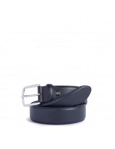 Piquadro Cintura Uomo con Fibbia Ad Ardiglione Blu