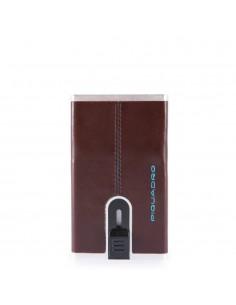 Piquadro Porta Carte di Credito con Sliding System - Mogano