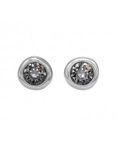 orecchini UNO DE 50 Ego - cristallo grigio