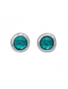 orecchini UNO DE 50 Ego - cristallo verde smeraldo