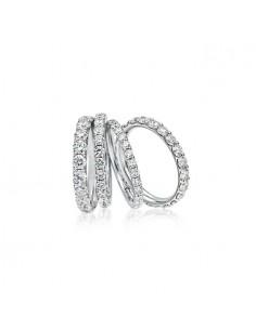 Anello girodito DIAMANTI SULLA PELLE BIBIGI' kt. 0.90 diamanti e oro bianco