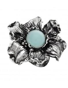 Anello argento Iris celeste Giovanni RASPINI