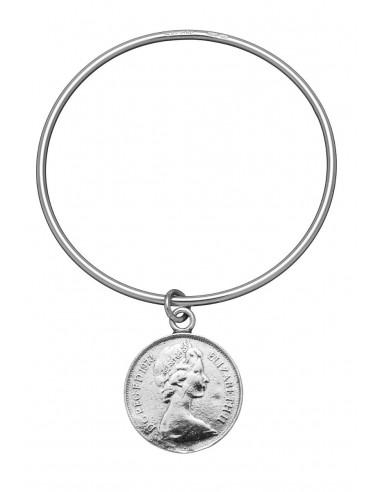 Bracciale argento bangle Moneta Giovanni RASPINI