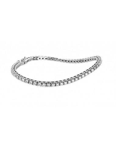 Bracciale tennis diamanti oro bianco RECARLO kt. 1.60