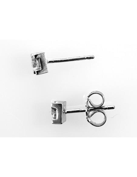 orecchini solitario diamanti OPERA ITALIANA kt. 0.40 diamanti e oro bianco