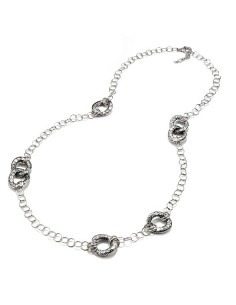 Collana argento Longuette Coccodrillo Giovanni RASPINI