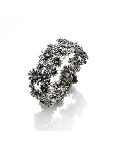 Bracciale argento bangle Margherite Giovanni RASPINI