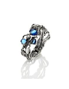 Bracciale argento bangle Orchidea Blu Giovanni RASPINI