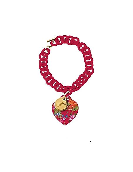bracciale cuore flower OPS