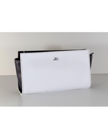 borsa tracolla J&C JACKYCELINE bicolore bianco e blu