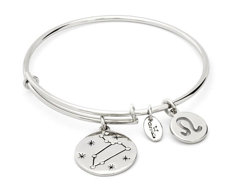 in uso durevole salvare dal costo ragionevole bracciale CHRYSALIS ZODIACO leone - silver