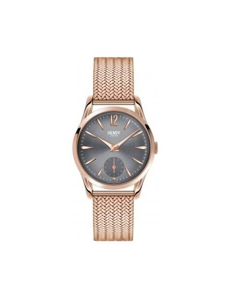 orologio HENRY LONDON Finchley uomo bracciale metallo e quadrante fumè