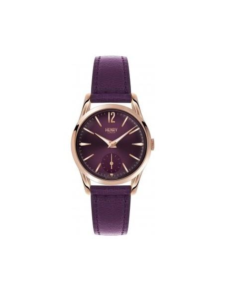 orologio HENRY LONDON Hampstead uomo quadrante prugna solo tempo