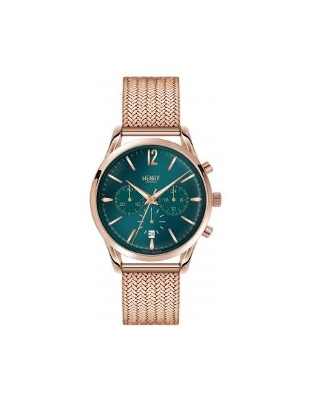 orologio HENRY LONDON Stratford uomo chrono quadrante verde