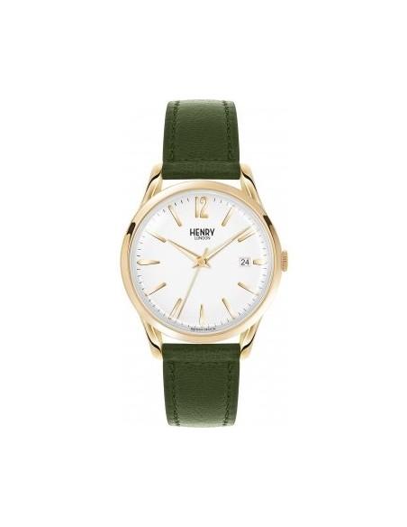 orologio HENRY LONDON Chiswick uomo bianco cintino cuoio