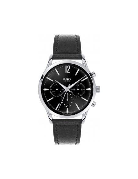 orologio HENRY LONDON Edgware chrono nero cintino cuoio