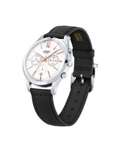 orologio HENRY LONDON Highgate uomo chrono quadrante bianco
