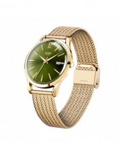 orologio HENRY LONDON Chiswich uomo solo tempo verde cintino metallo