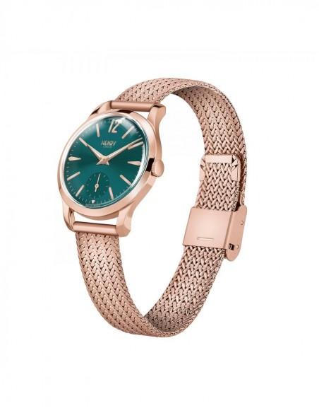 orologio HENRY LONDON Stratford donna verde solo tempo con secondi