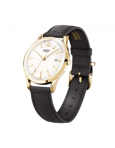 orologio HENRY LONDON Westmister uomo champagne solo tempo