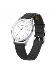 orologio HENRY LONDON Edgware uomo bianco cintino cuoio solo tempo