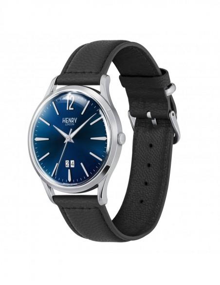 orologio HENRY LONDON Knightsbridge blu notte solo tempo datario