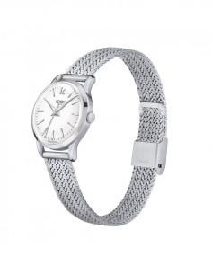 orologio HENRY LONDON Edgware donna solo tempo quadrante bianco cintino metallo