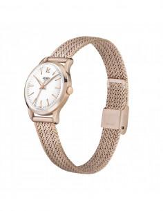 orologio HENRY LONDON Richmond donna solo tempo quadrante bianco cintino metallo oro rosa