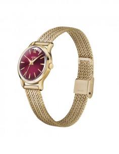 orologio HENRY LONDON Holborn donna solo tempo quadrante prugna cintino metallo oro rosa