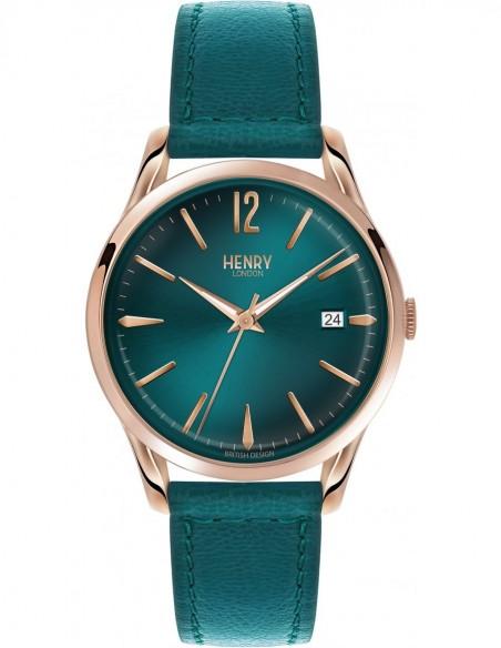orologio HENRY LONDON Stratford bianco cintino cuoio