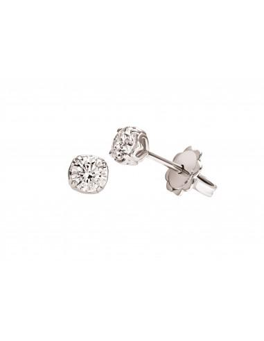 orecchini solitario diamante Recarlo Anniversary kt. 0.23