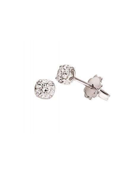 orecchini solitario diamanti Recarlo Anniversary kt. 0.40