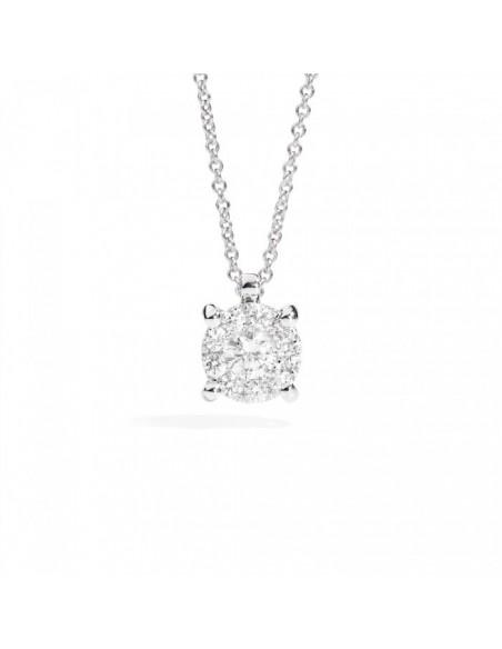collana diamanti Recarlo Nodo d'Amore kt. 0.20