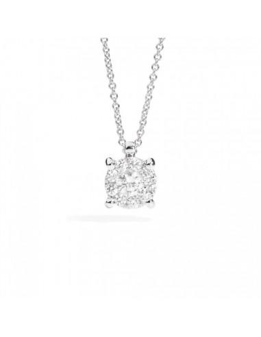 collana diamanti recarlo Nodo dìAmore kt. 0.10