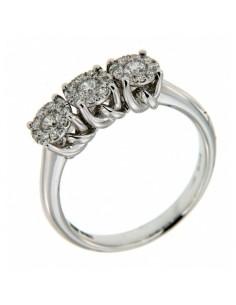 anello trilogy diamanti NODO D'AMORE RECARLO kt. 0,20 oro bianco
