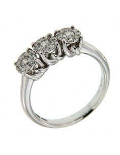anello trilogy diamanti Recarlo Nodo d'Amore kt. 0.20
