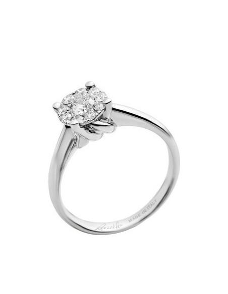anello diamanti Recarlo Nodo d'Amore kt. 0.10