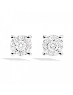 orecchini diamante NODO D'AMORE RECARLO kt. 0,20 oro bianco