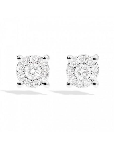 orecchini diamanti recarlo Nodo d'Amore kt. 0.30