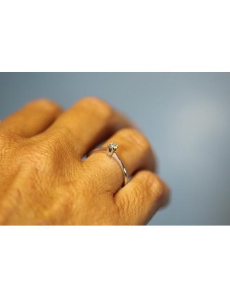 anello solitario Bari diamante kt. 0,28 Opera Italiana Jewellery