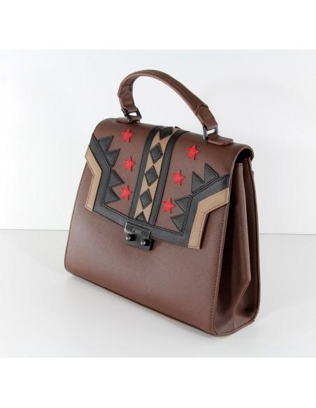 borsa POMIKAKI modello MONIKA colore brown