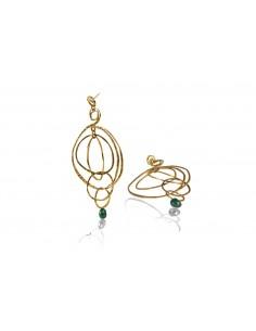 orecchini argento design originale con pietra