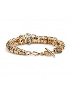 bracciale argento infinity bagno oro